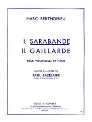 Marc Berthomieu - Saraband - Partition - di-arezzo.co.uk