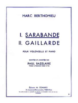 Sarabande - Marc Berthomieu - Partition - laflutedepan.com