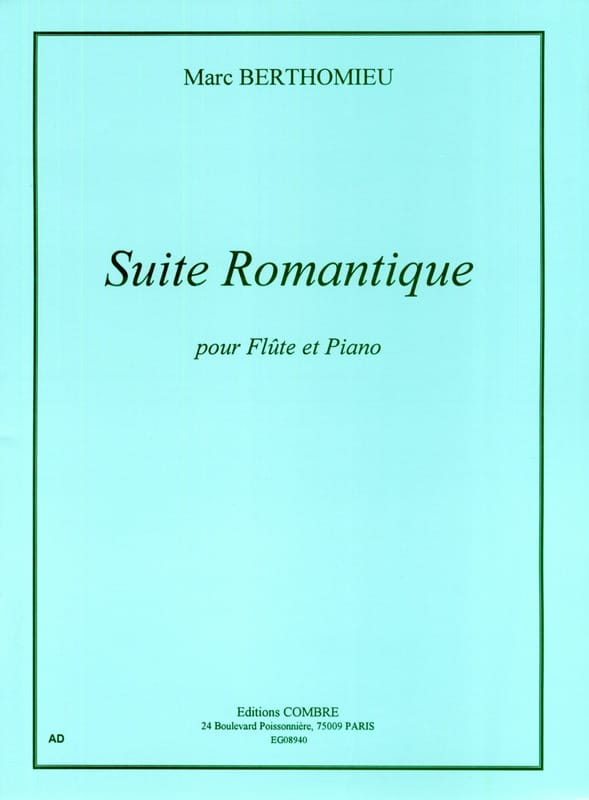 Marc Berthomieu - Romantic Suite - Partition - di-arezzo.com