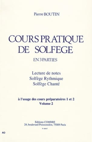 Pierre Boutin - Practical Course of Solfeggio - Volume 2 - Partition - di-arezzo.com