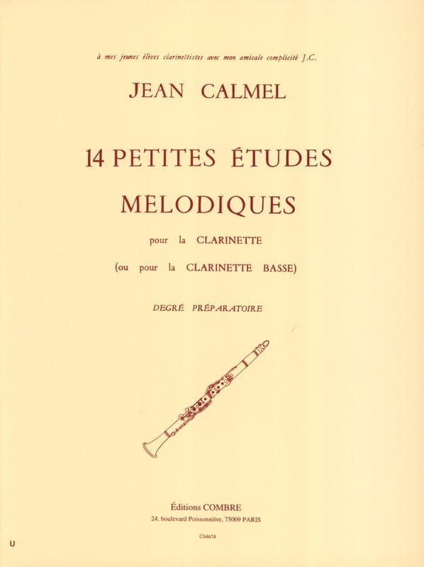 Jean Calmel - 14 Small melodic studies - Partition - di-arezzo.co.uk