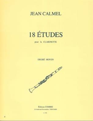 Jean Calmel - 18 Etudes - Clarinet - Partition - di-arezzo.com