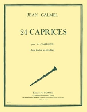 Jean Calmel - 24 Caprices - Clarinet In All Tonalites - Partition - di-arezzo.co.uk