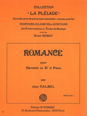 Romance - Jean Calmel - Partition - Clarinette - laflutedepan.com