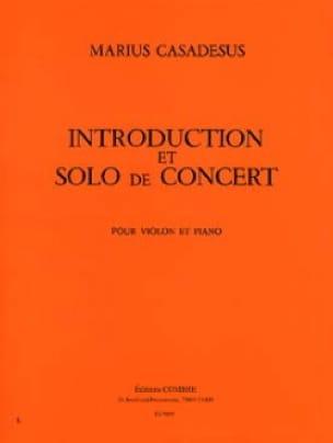 Introduction et Solo de Concert - Marius Casadesus - laflutedepan.com
