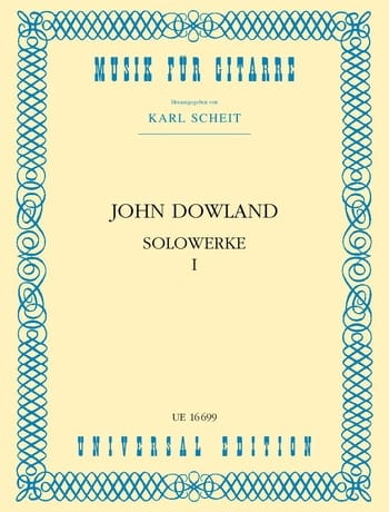 John Dowland - Solowerke Band I - Partition - di-arezzo.com