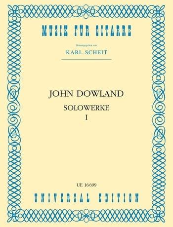 Solowerke Band I - John Dowland - Partition - laflutedepan.com