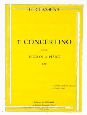 Henri Classens - Concertino n° 3 - Violon - Partition - di-arezzo.fr