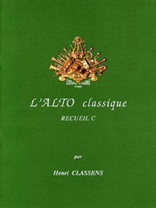 L'alto Classique Volume C - CLASSENS - Partition - laflutedepan.com