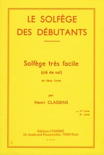 Henri Classens - The Beginners Solfeggio - Treble clef - Partition - di-arezzo.com