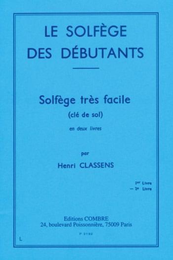 Henri Classens - Beginners' Solfeggio - Volume 2 treble clef - Partition - di-arezzo.co.uk
