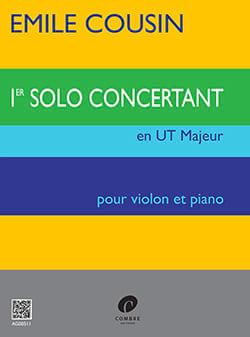 Solo concertant n° 1 en Ut Majeur - Emile Cousin - laflutedepan.com