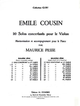 Solo concertant n° 2 en la mineur - Emile Cousin - laflutedepan.com