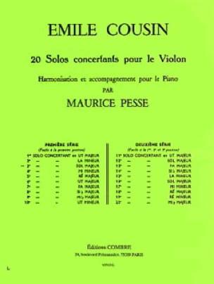 Solo concertant n° 3 en Sol Majeur - Emile Cousin - laflutedepan.com