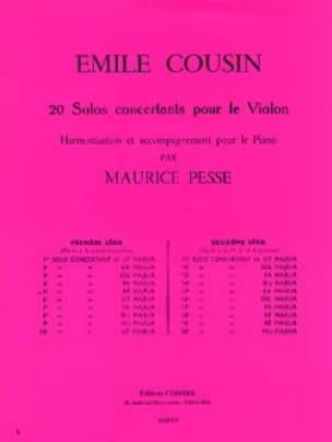 Solo concertant n° 5 en ré majeur - Emile Cousin - laflutedepan.com