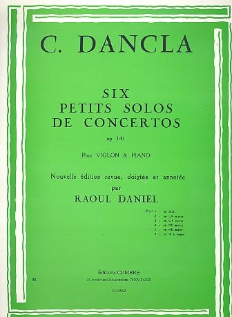 DANCLA - Small concerto solo op. 141 No. 1 in G Major - Partition - di-arezzo.com