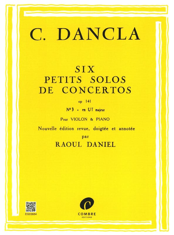 DANCLA - Small concerto solo op. 141 n ° 3 in C Major - Partition - di-arezzo.com