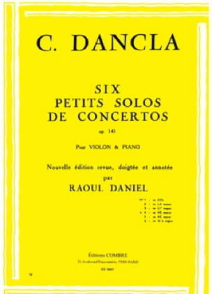 DANCLA - Small concerto solo op. 141 No. 4 in D minor - Partition - di-arezzo.co.uk