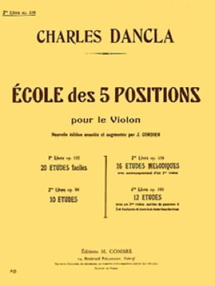 DANCLA - School of 5 positions, Volume 3 op. 128 - Partition - di-arezzo.co.uk