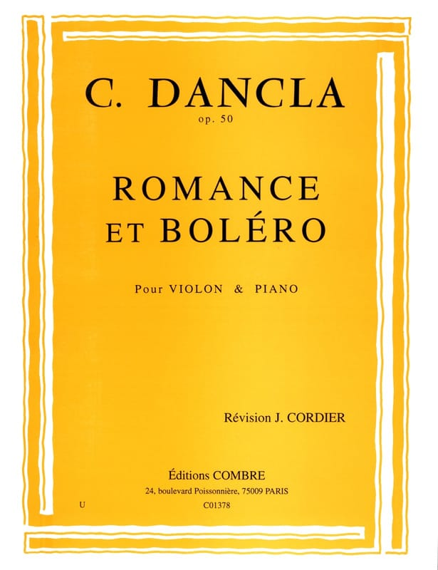 DANCLA - Romance and Bolero Op. 50 - Partition - di-arezzo.com