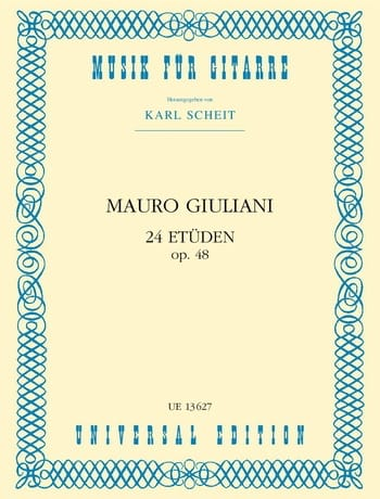 Mauro Giuliani - 24 Etüden op. 48 - Partition - di-arezzo.co.uk