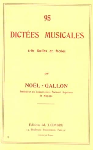 95 Dictées musicales - Noël Gallon - Partition - laflutedepan.com