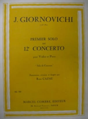 1er Solo du Concerto n° 12 - Jarnovic Giornovichi - laflutedepan.com