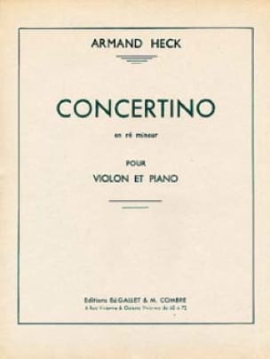 J. Armand Heck - Concertino en Re menor - Partition - di-arezzo.es