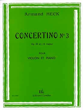 J. Armand Heck - Concertino n ° 3 op. 33 en re mayor - Partition - di-arezzo.es