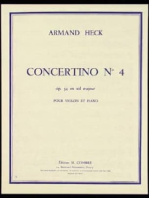 J. Armand Heck - Concertino n ° 4 op. 34 en sol mayor - Partition - di-arezzo.es