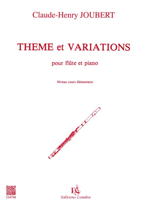 Claude-Henry Joubert - Theme and Variations - Flute - Partition - di-arezzo.co.uk