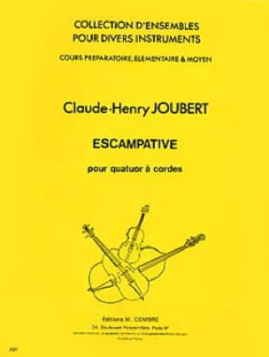 Claude-Henry Joubert - 同封 - 4バイオリン - Partition - di-arezzo.jp