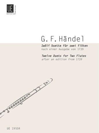 12 Duette - 2 Flöten - HAENDEL - Partition - laflutedepan.com