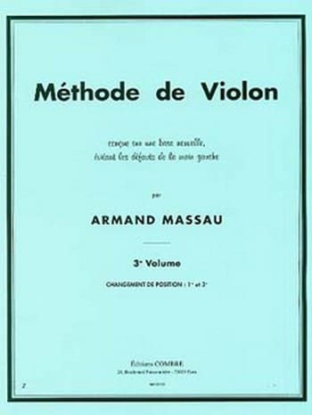 Armand Massau - Violin Method Volume 3 - Partition - di-arezzo.co.uk