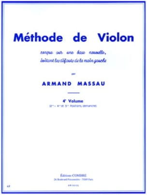 Armand Massau - Violin Method Volume 4 - Partition - di-arezzo.co.uk