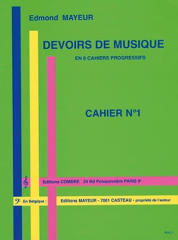Edmond Mayeur - Duties of music n ° 1 - Partition - di-arezzo.co.uk