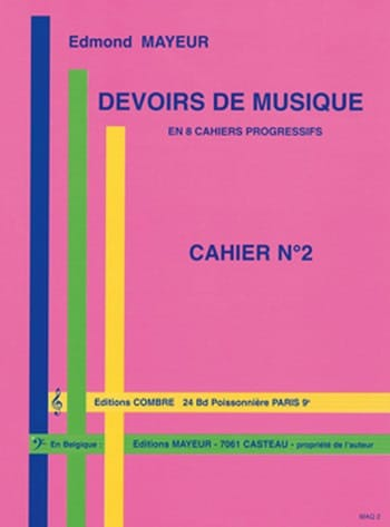 Edmond Mayeur - Duties of music n ° 2 - Partition - di-arezzo.com