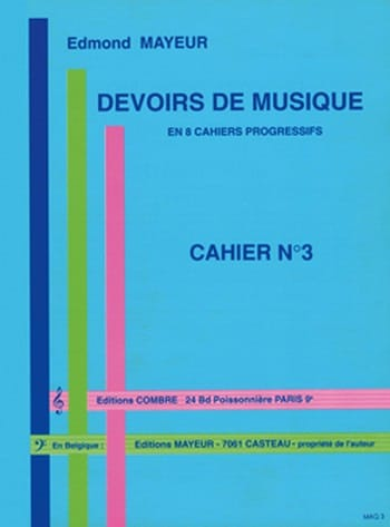 Edmond Mayeur - Duties of music n ° 3 - Partition - di-arezzo.com