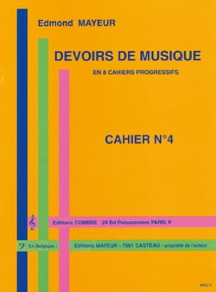 Edmond Mayeur - Duties of music n ° 4 - Partition - di-arezzo.co.uk