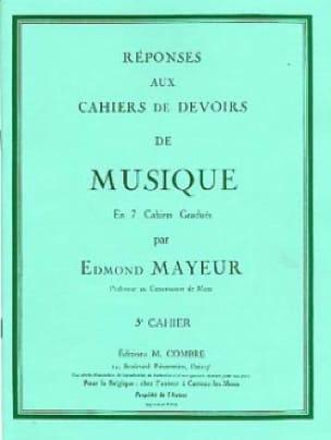 Edmond Mayeur - Answers to homework n ° 3 - Partition - di-arezzo.co.uk