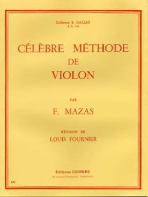 MAZAS - Famous Fournier violin method - Partition - di-arezzo.co.uk
