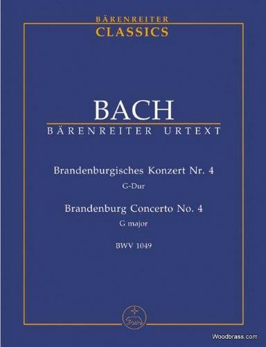 Concerto Brandebourgeois Nr. 4 - BACH - Partition - laflutedepan.com