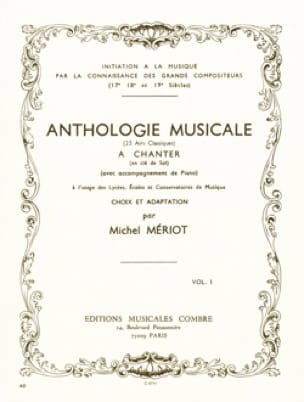 Michel Meriot - Musical Anthology Volume 1 - Partition - di-arezzo.com