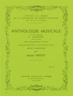 Michel Meriot - Musical Anthology Volume 2 - Partition - di-arezzo.com