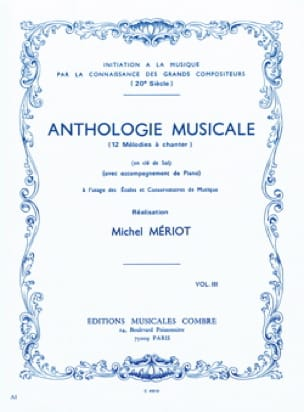 Michel Meriot - Music Anthology - Volume 3 - Partition - di-arezzo.com