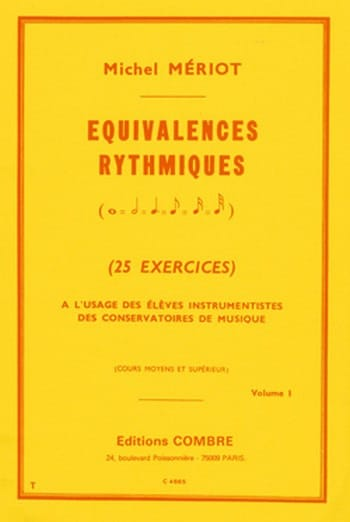 Michel Meriot - Rhythmic equivalences - Volume 1 - Partition - di-arezzo.com