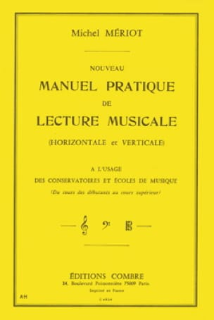 Michel Mériot - New practical manual of musical reading - Partition - di-arezzo.co.uk