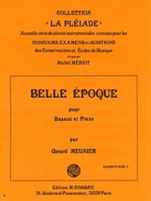 Belle époque - Gérard Meunier - Partition - Basson - laflutedepan.com