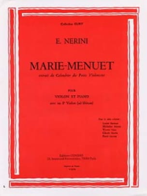 Marie-Menuet - Emmanuel Nerini - Partition - Violon - laflutedepan.com