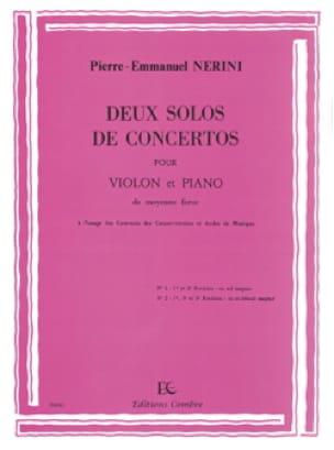 Pierre-Emmanuel Nerini - 2 Solos of Concertos - Partition - di-arezzo.com